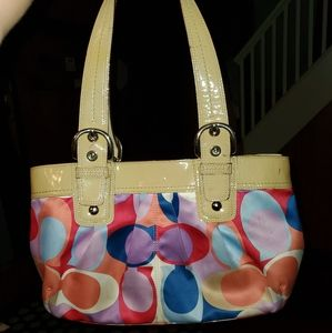 Coach Signature C print sateen Soho bag